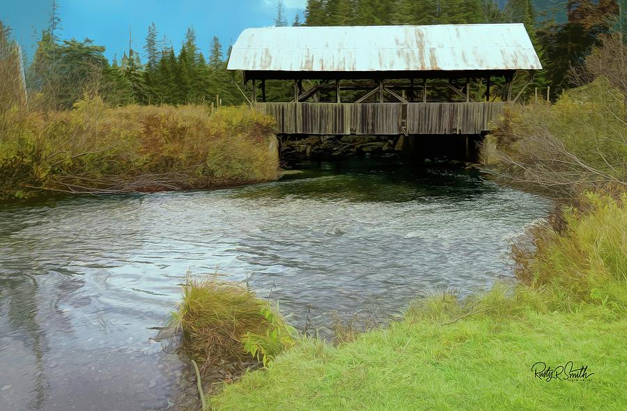 Old covered bridge in Northern New Hampshire. by Rusty R Smith