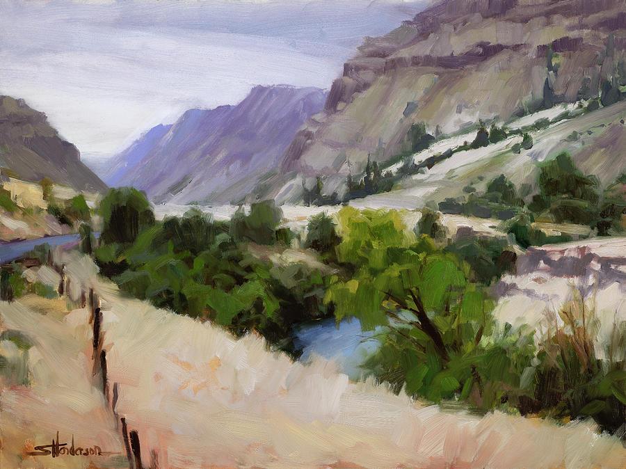 Old Fence Older River Painting
