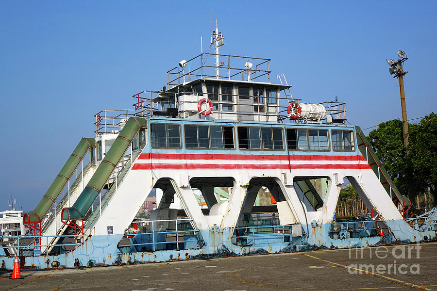 Old Ferry Boat in Taiwan by Yali Shi