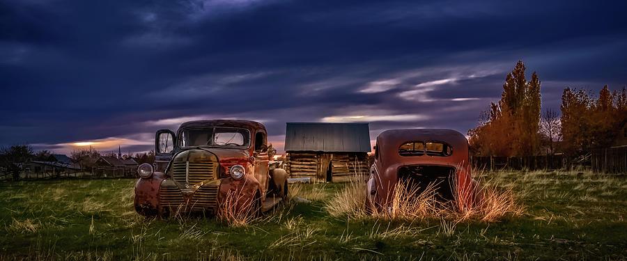 Vintage Autos Photograph - Old Friends by Paul Douglas