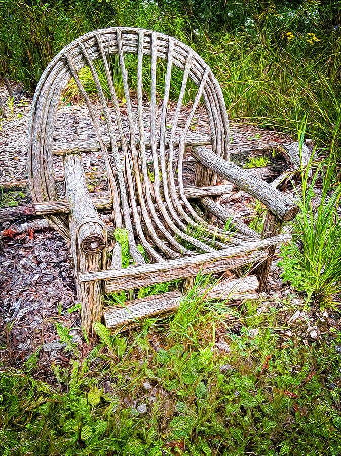 Old Garden Chair Photograph