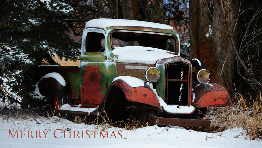 Old GMC- Merry Christmas by Whispering Peaks Photography