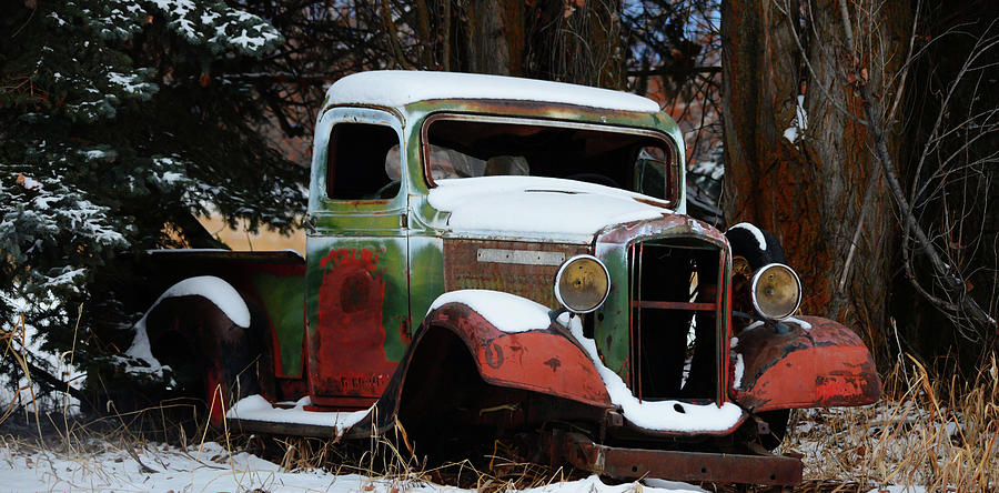 Old GMC Pickup by Whispering Peaks Photography