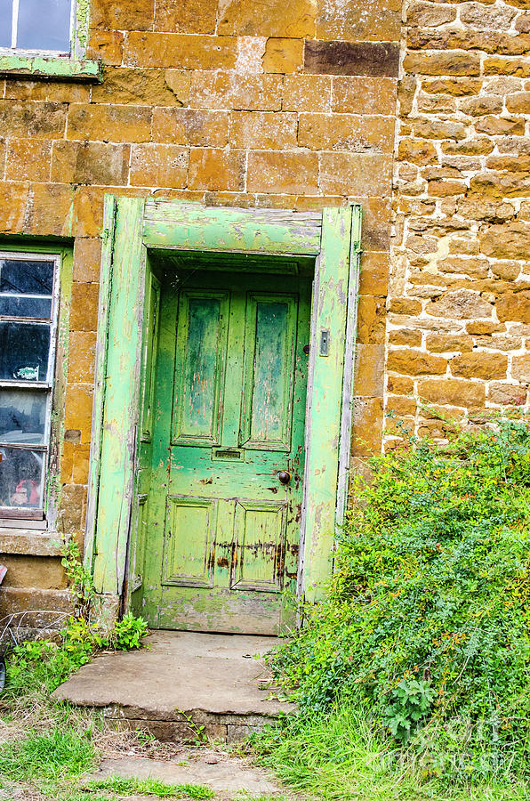 Old Green Cottage Door by Richard Jemmett