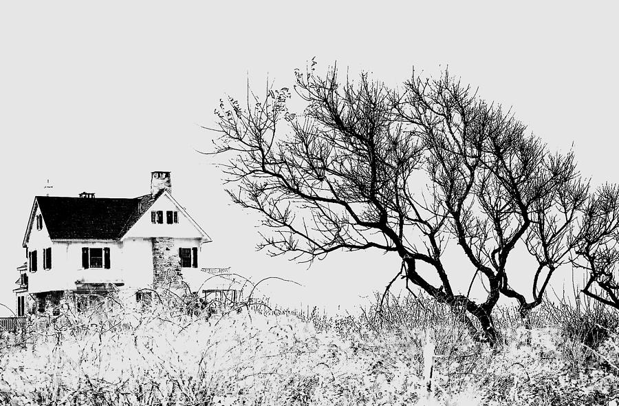 House on the Cliff Photograph by Ali Bailey