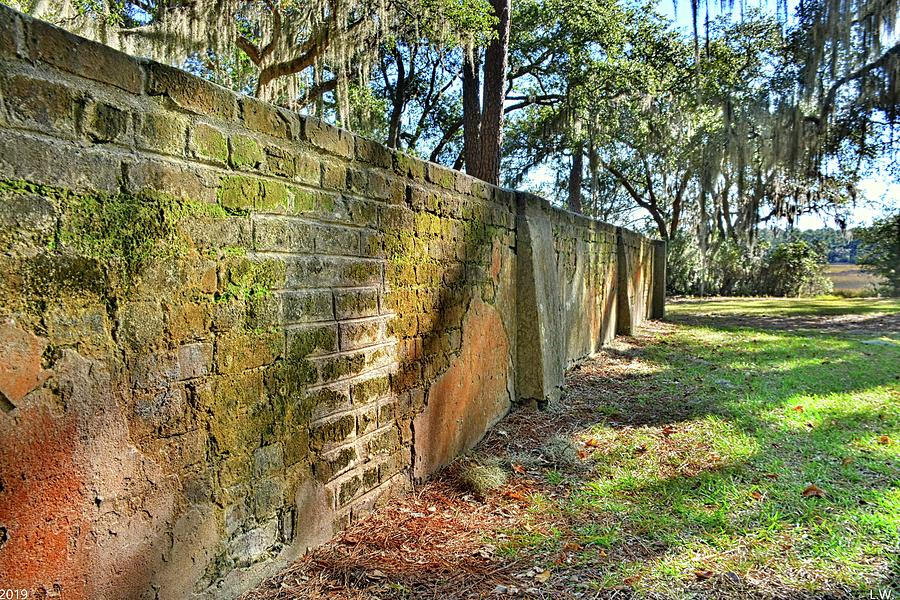 Old House Plantation Cemetery Wall by Lisa Wooten