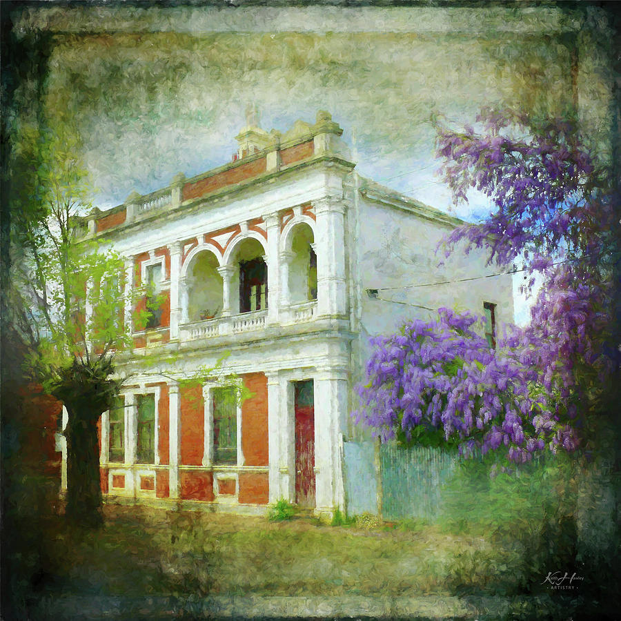 Old House with Wisteria by Keith Hawley