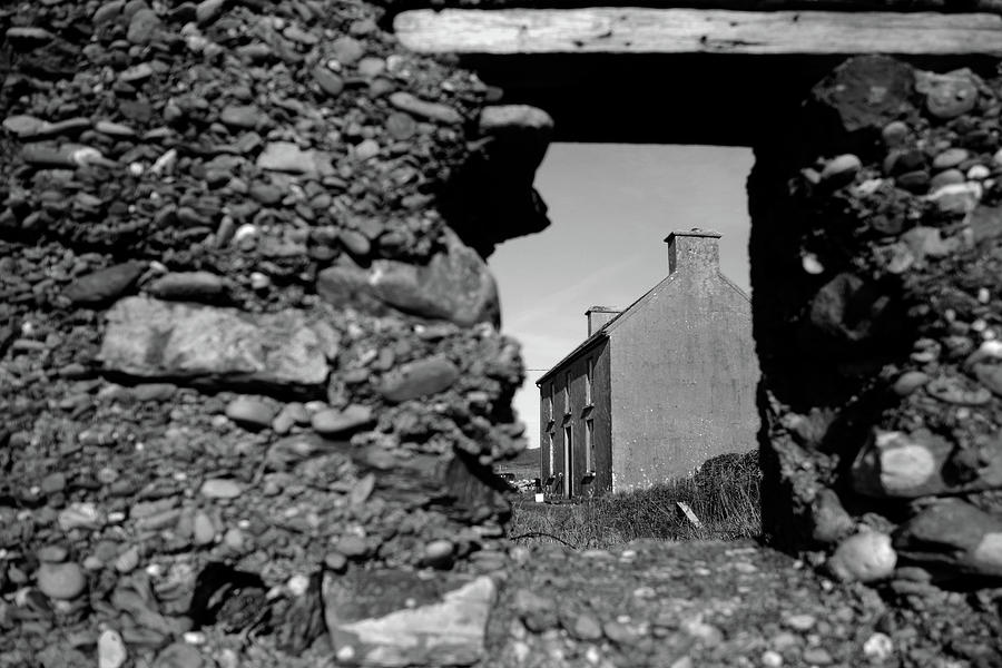 Old Irish Farmhouse From The Window Of Another Photograph