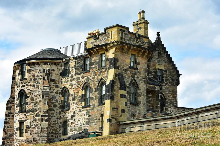 Old Observatory House, Calton Hill, Edinburgh by Yvonne Johnstone