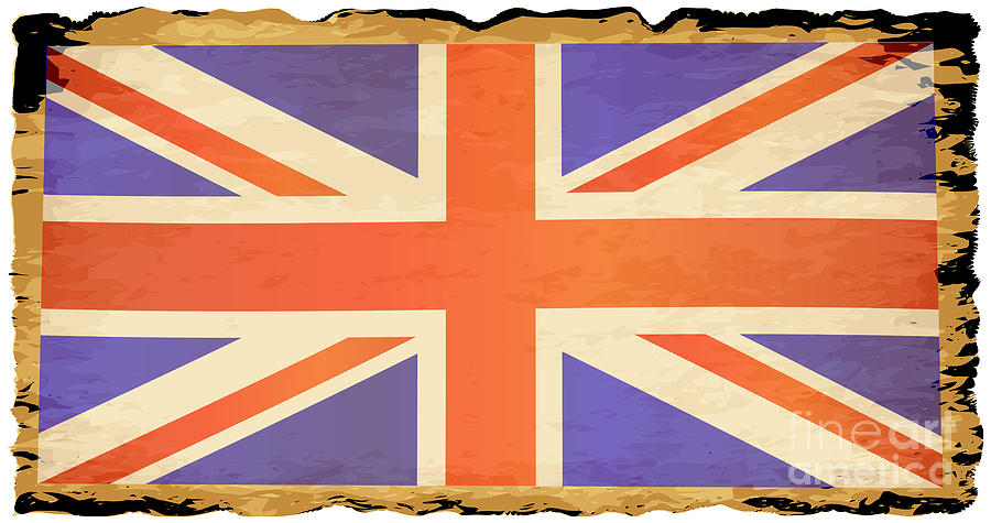 Old Digital Art - Old Parchment Union Jack Flag by Bigalbaloo Stock