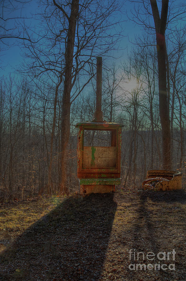 Hdr Photograph - Old Railroad Signal  by Larry Braun