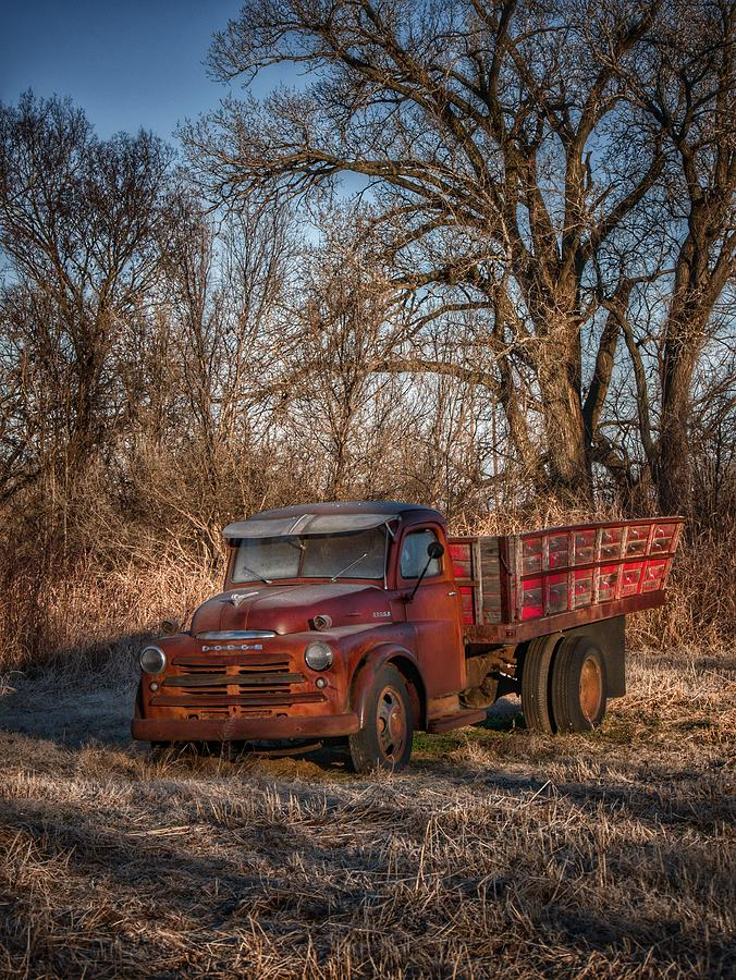 Old Red Dodge Photograph