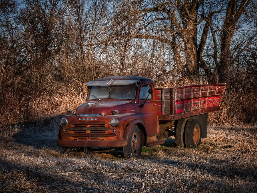 Old Red Truck Photograph