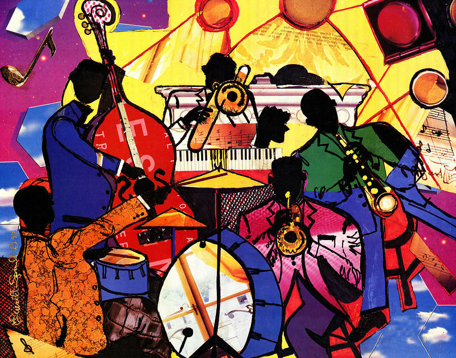 Interior Design Painting - Old School Jazz by Everett Spruill
