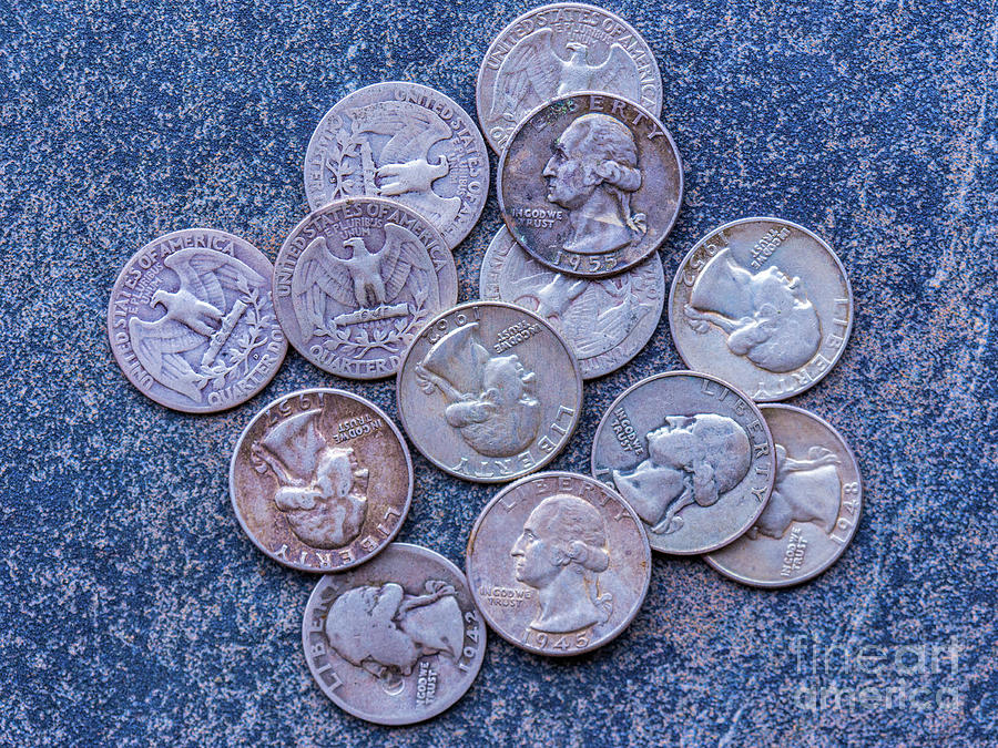 Old Silver Quarters Photograph