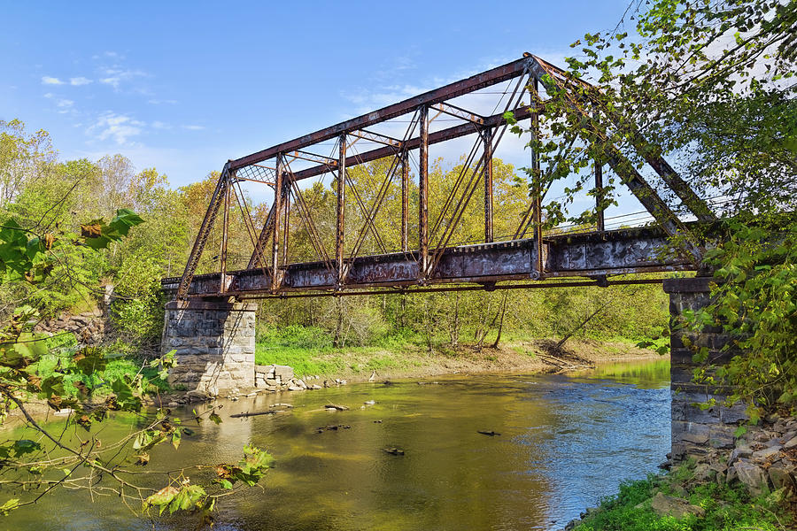 Old Southern Railroad Trestle Bridge on the Valley River by John M Bailey