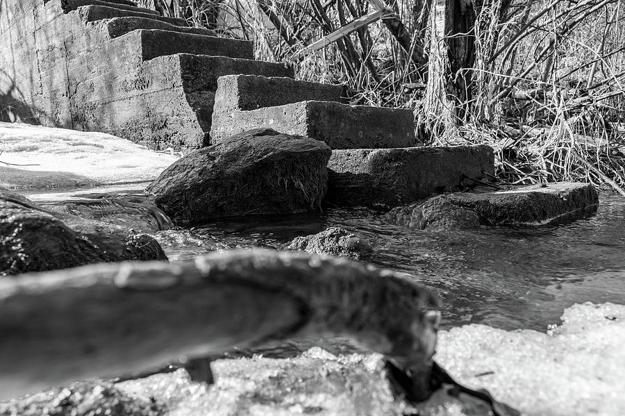 Concrete Steps Photograph - Old Steps  by Damon Dulewich