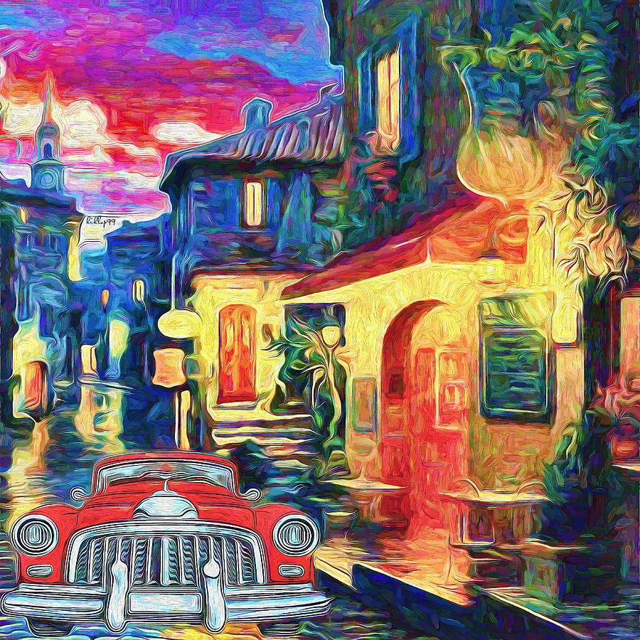 Old Street In France 2 Painting