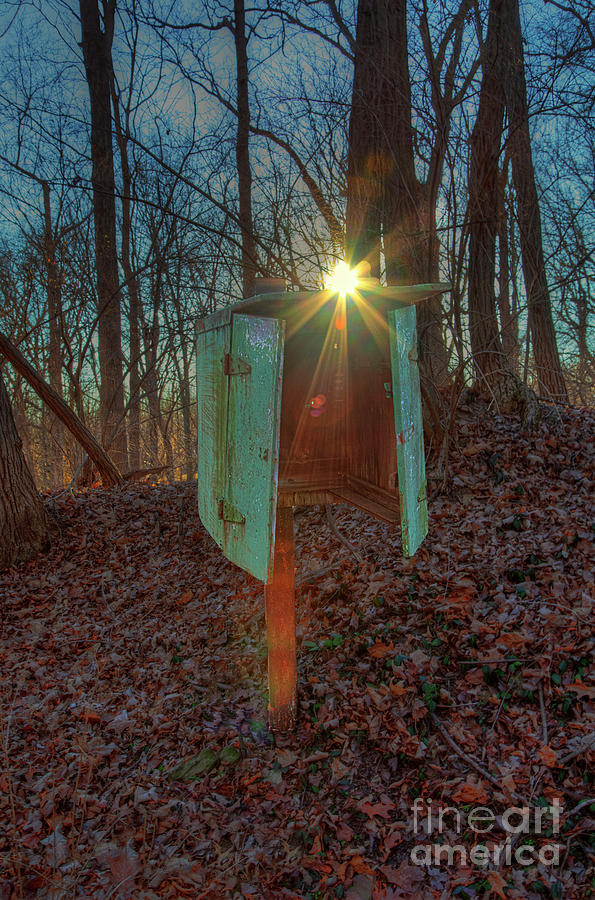 Hdr Photograph - Old Telephone Box on the Quetil Trail by Larry Braun