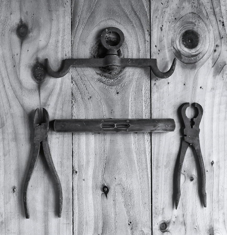 Old Tools Monochrome Photograph