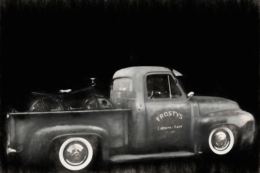 Old Truck in BW  by Cathy Anderson