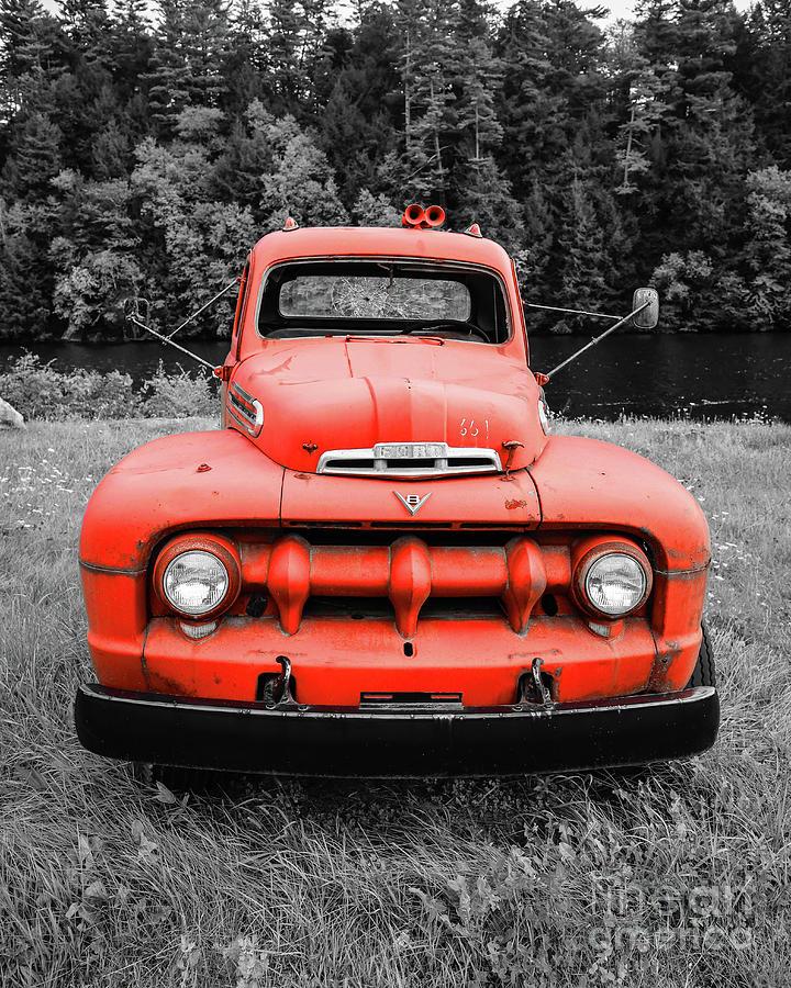 Old Vintage Ford V8 Truck Color Selective by Edward Fielding
