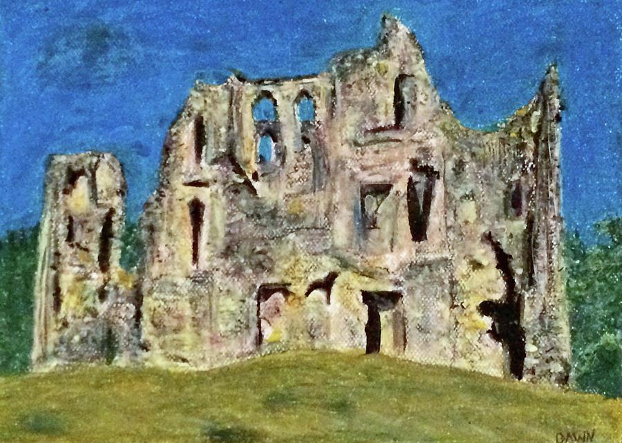 Old Wardour Castle Pastel