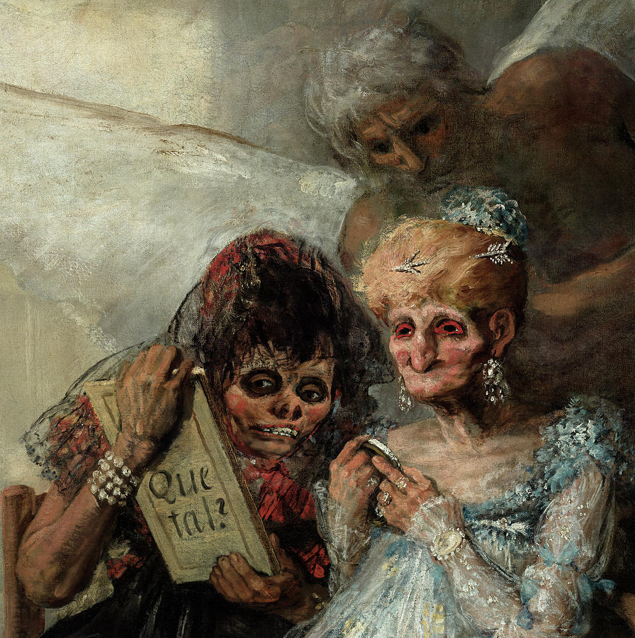 Francisco Goya Painting - Old Women, Time, 1812 by Francisco Goya