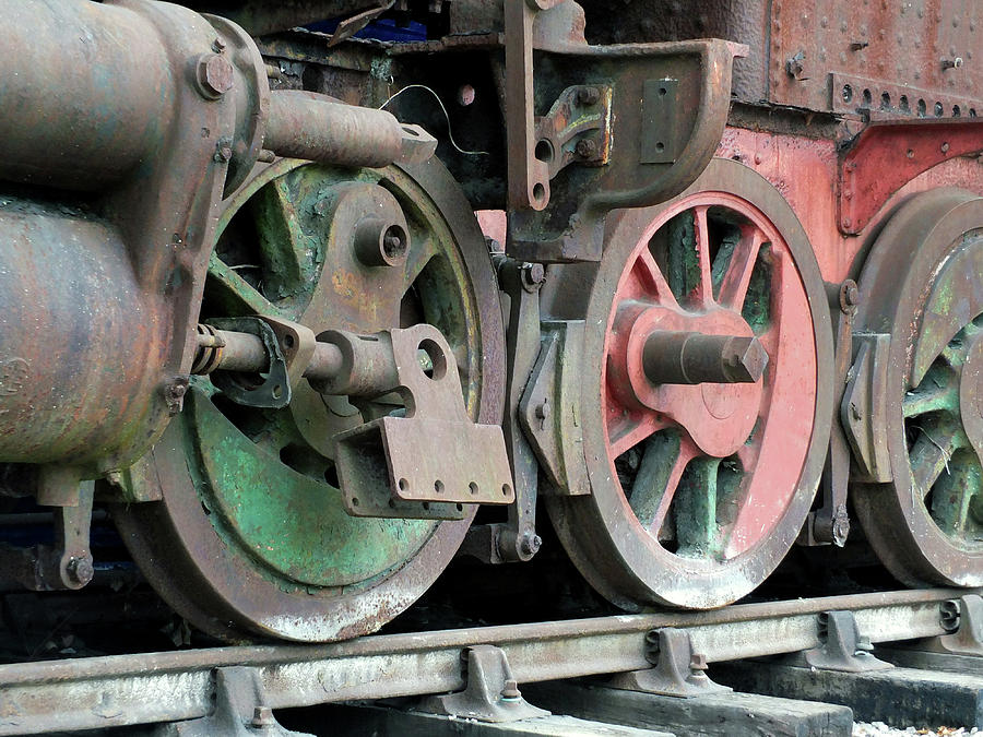 Old wrecked steam locomotive by Philip Openshaw