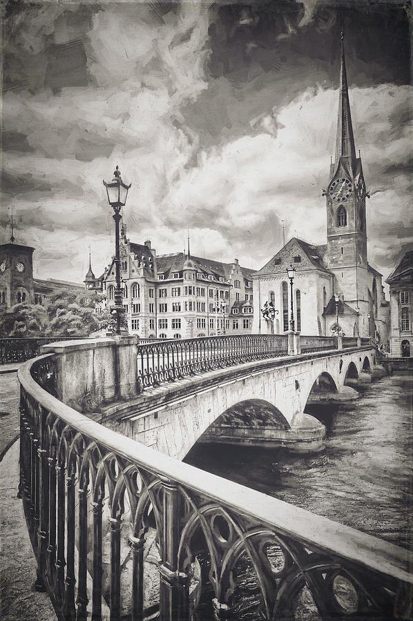 Old Zurich Vintage Photograph