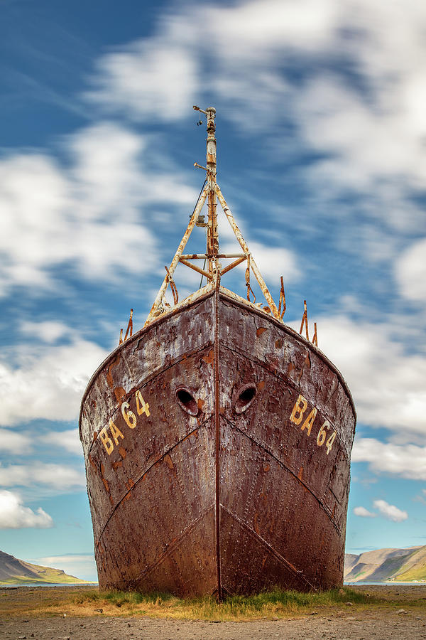 Oldest Steel Ship In Iceland The Gardar Ba 64 Photograph