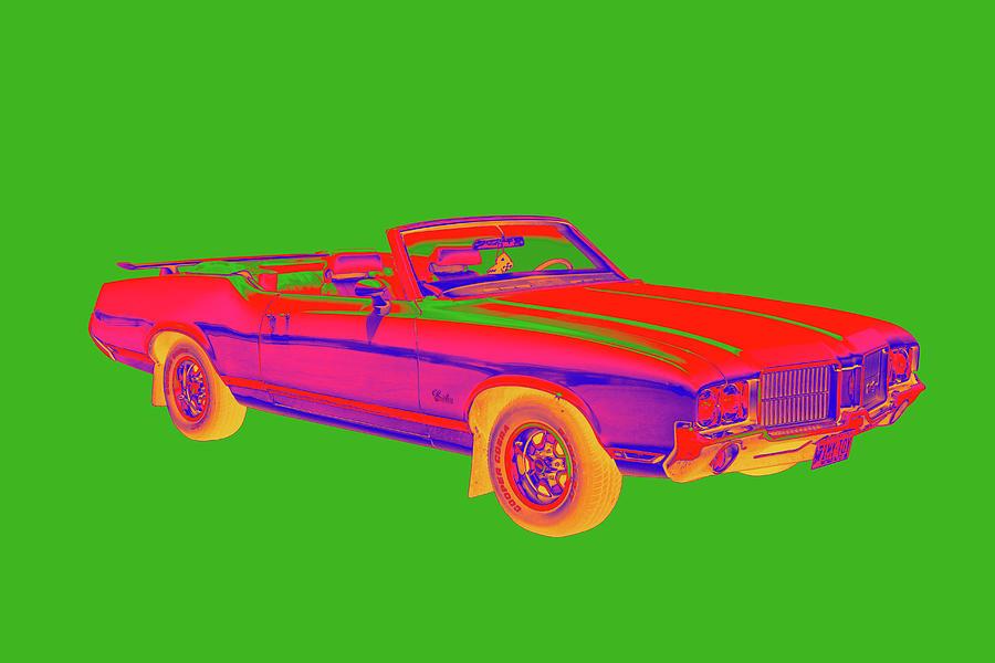 Oldsmobile Cutlass Supreme Muscle Car Pop Art Photograph