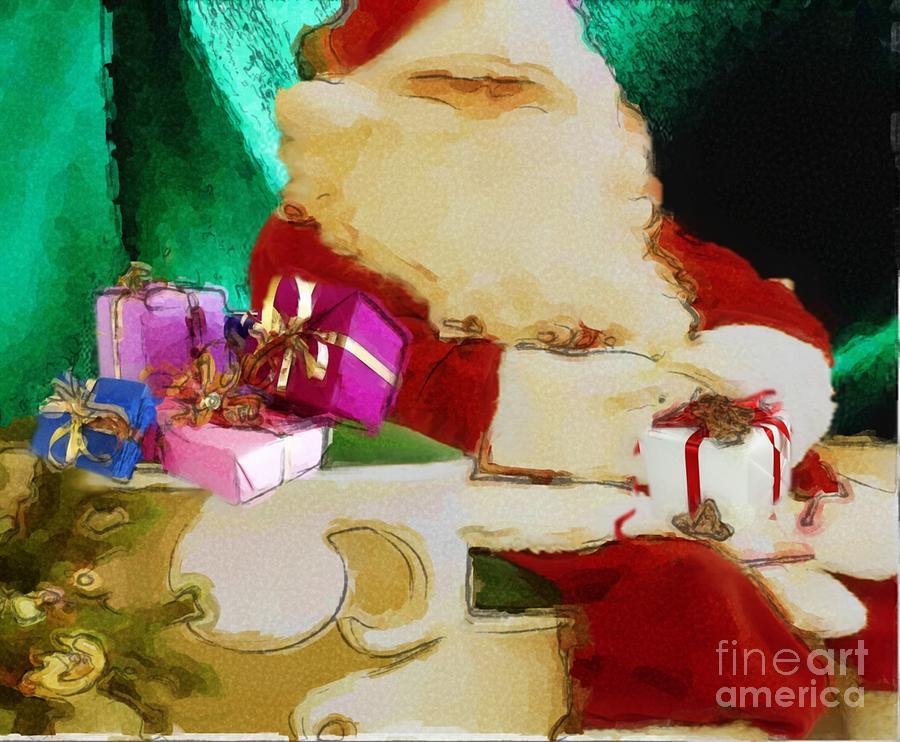 Ole St. Nicholas - Santa Painting