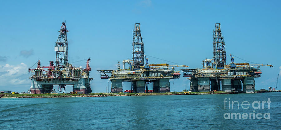 Oil Platforms by Tony Baca