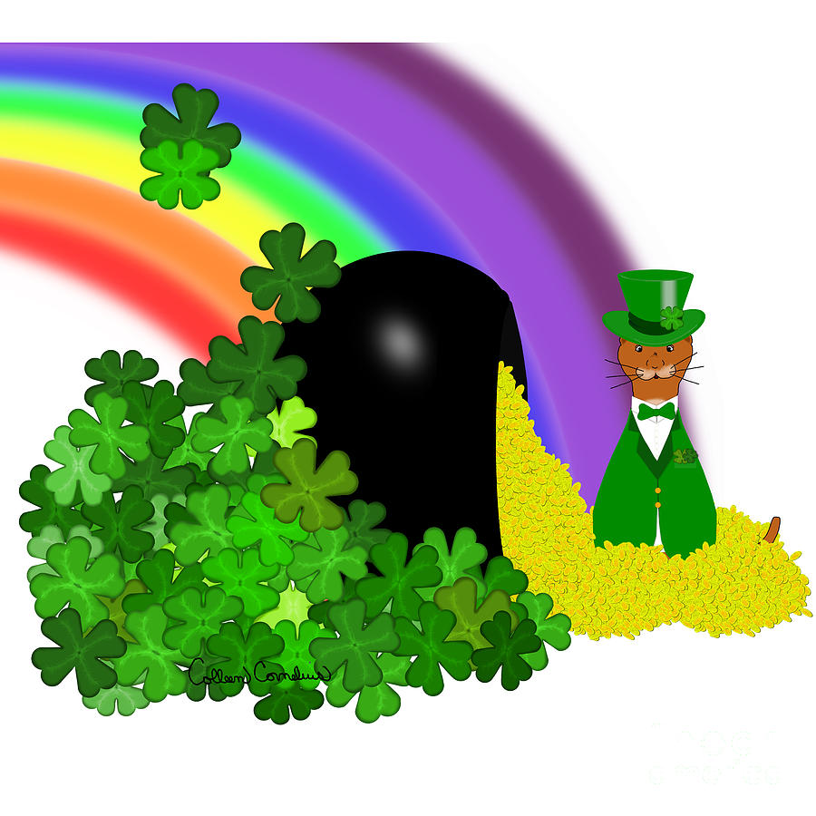 Oliver Finds A Pot Of Gold Saint Patricks by Colleen Cornelius