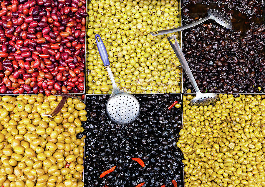 Olives For Sale Photograph