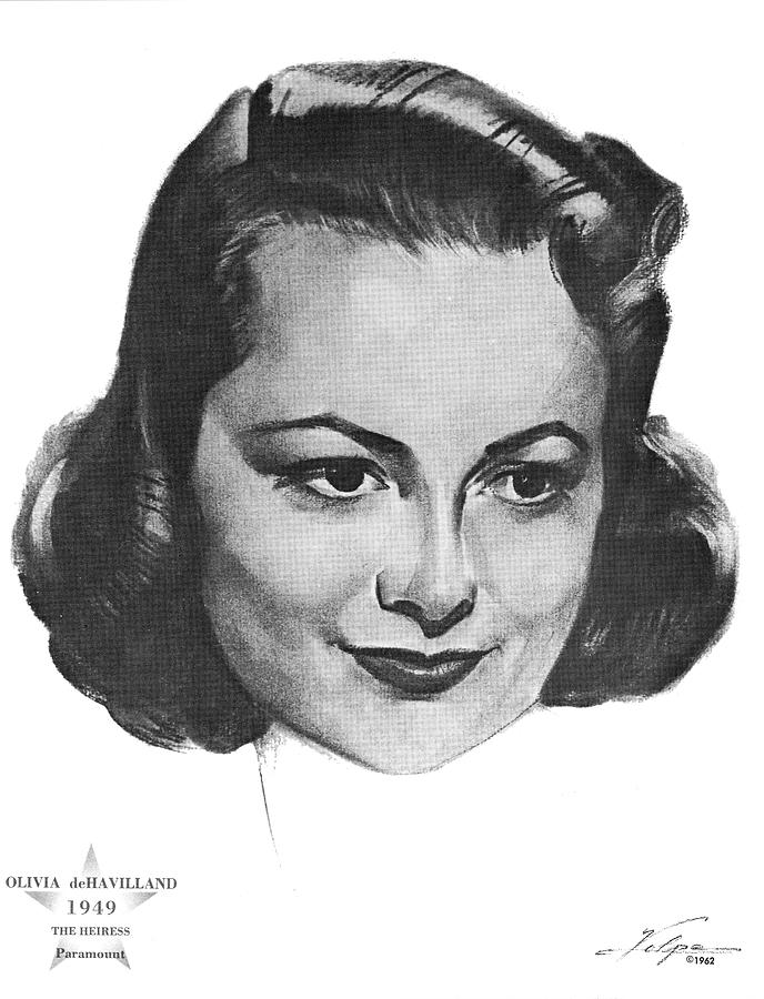 Olivia De Havilland By Volpe - 2 Drawing