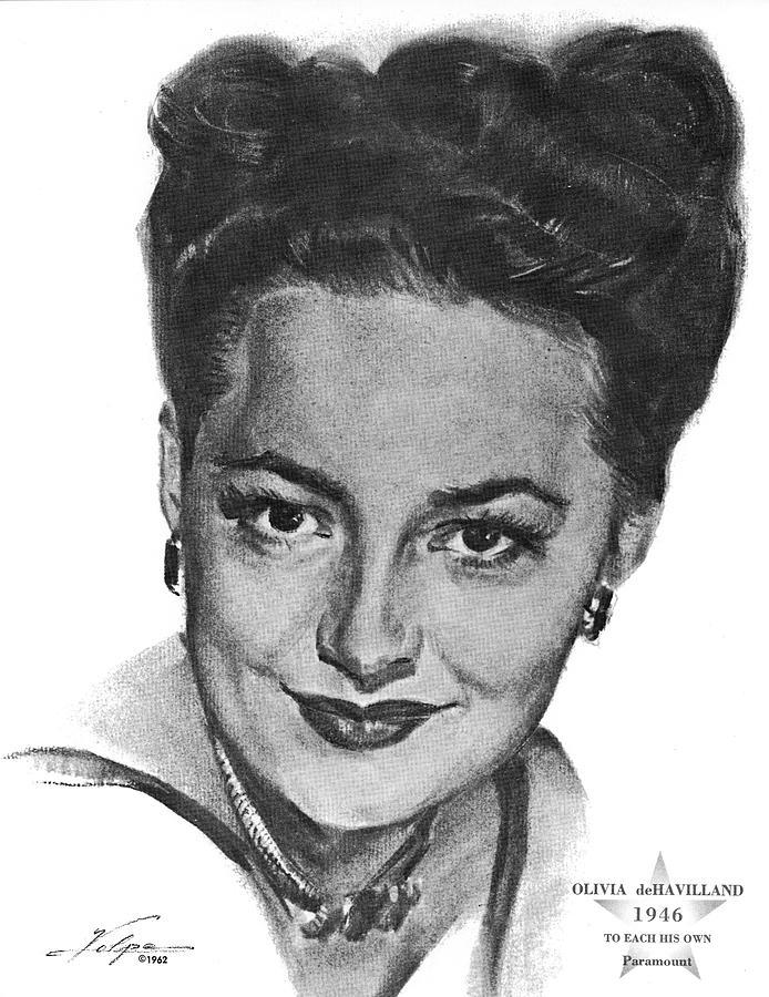 Olivia De Havilland By Volpe Drawing