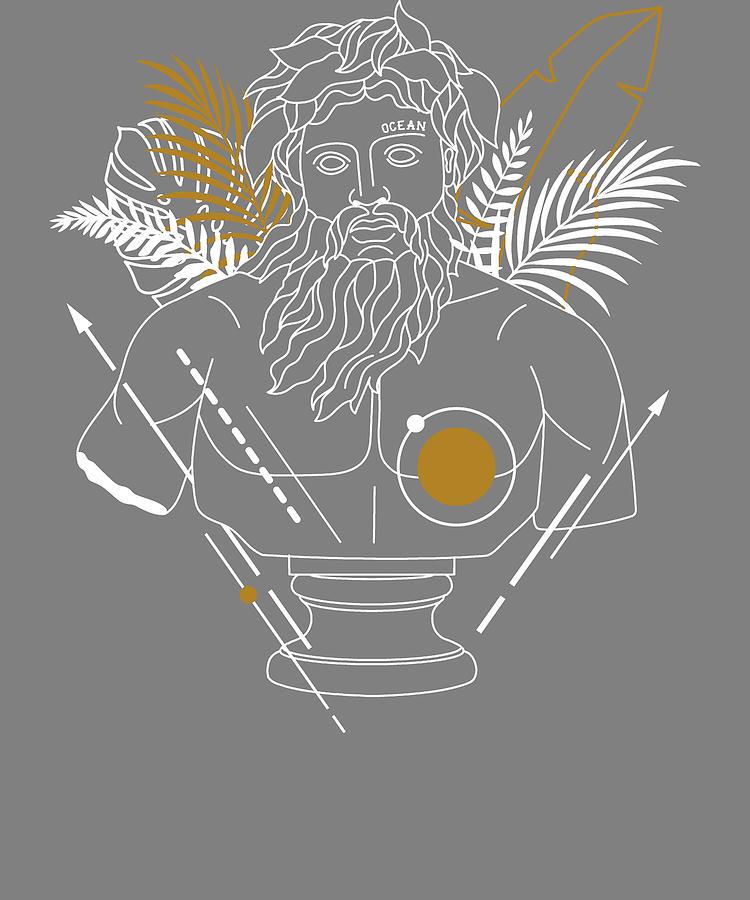 Olympian Gods Poseidon Twelve Olympians Greek Religion Greek Mythology Digital Art By Stacy Mccafferty