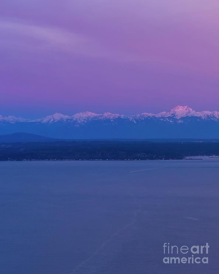 Olympic Mountains Sunrise 1 Photograph