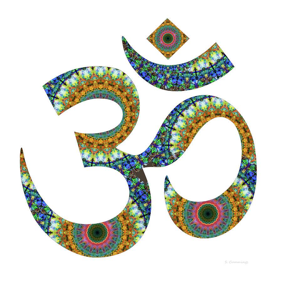 Om Symbol Painting - Om 10 - Meditation Art - Sharon Cummings by Sharon Cummings