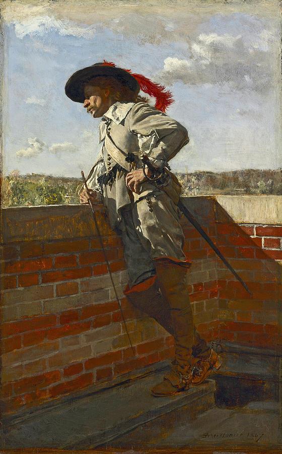 On a Terrace by Ernest Meissonier