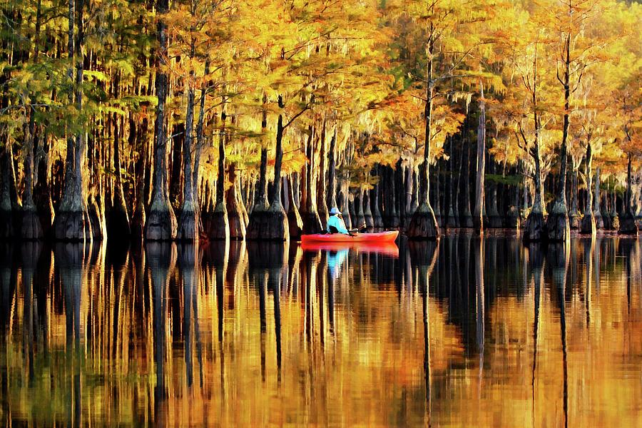 On Golden Watson Pond Photograph