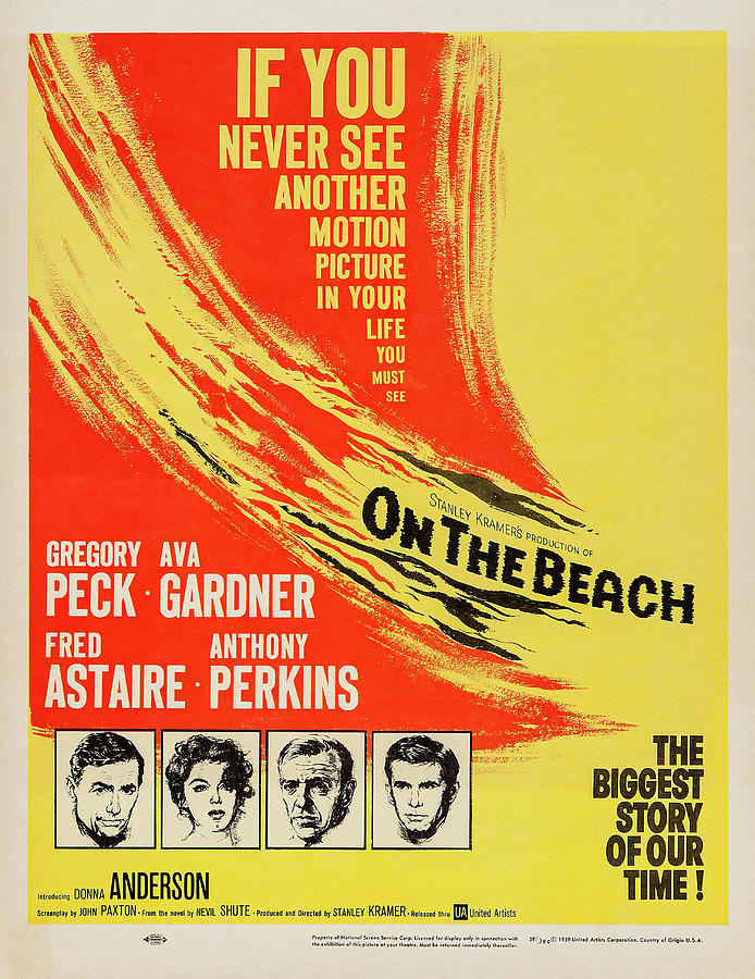on The Beach 2, With Gregory Peck And Ava Gardner, 1959 Mixed Media