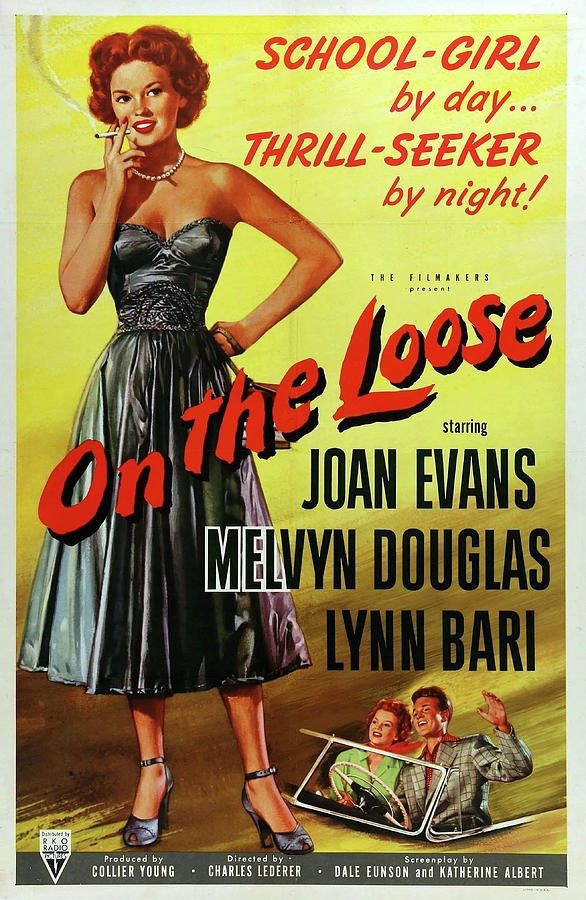 on The Loose Movie Poster 1951 Mixed Media