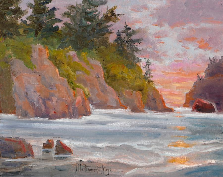 On The Oregon Coast Painting
