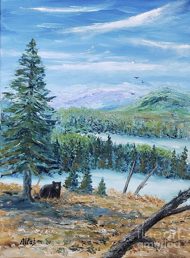 Black Bear Painting - On The Prowl - Black Bear by Stanton Allaben