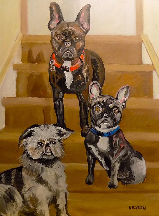 On The Stairs Painting
