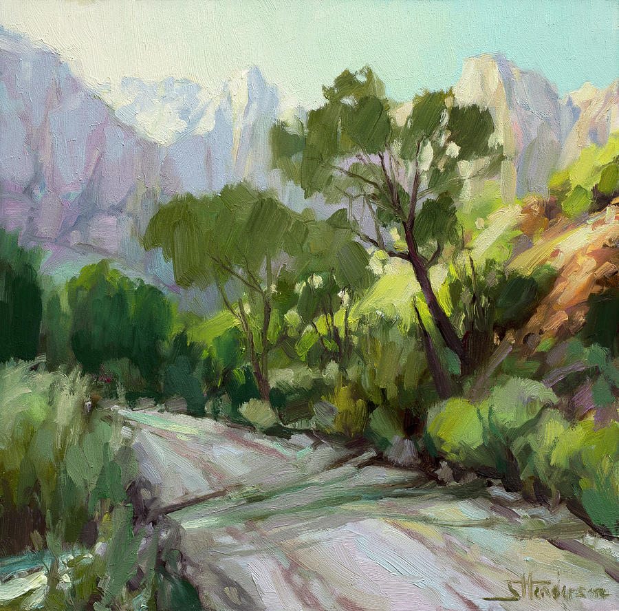 Zion Painting - On the Temple Road by Steve Henderson