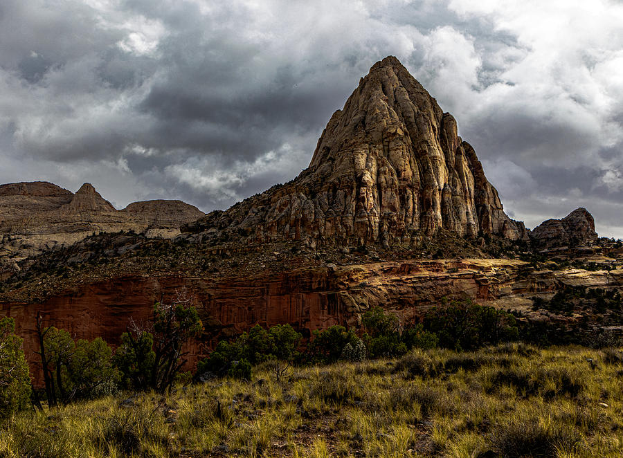 Nature Photograph - On the trail in Capital Reef by Paul Malen